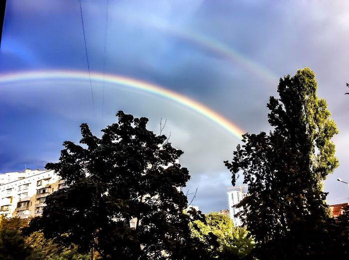 ©after rain will always be a rainbow Rainbow Beauty In Nature Multi Colored Sky Outdoors Rain