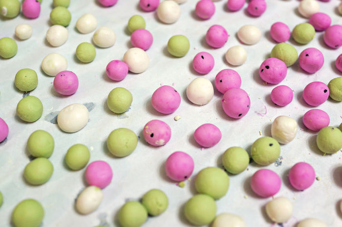 Preparation of Tang Yuan (Glutinous rice ball for Winter Solstice Festival) Celebration Dessert Solstice Chinese Dong Zhi Festival Food Glutinous Large Group Of Objects Multi Colored Rice Ball Sweet Food Tang Yuan