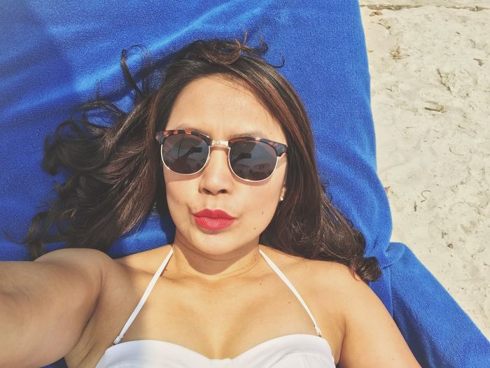 Selfies Selfie ✌ Self Portrait Sunglasses Looking At Camera Portrait One Person Vacations Summer Bikini Day Leisure Activity Outdoors High Angle View Front View Sunlight Beach Headshot Only Women Beautiful Woman Real People Lifestyles Young Adult