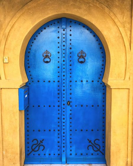 Blue door Northafrica Tunisie Tunisia Tunis Blue Closed Built Structure Architecture Door Entrance No People Protection Outdoors Creativity Wall - Building Feature Close-up Building Exterior Security Building Window Metal Day Safety Pattern