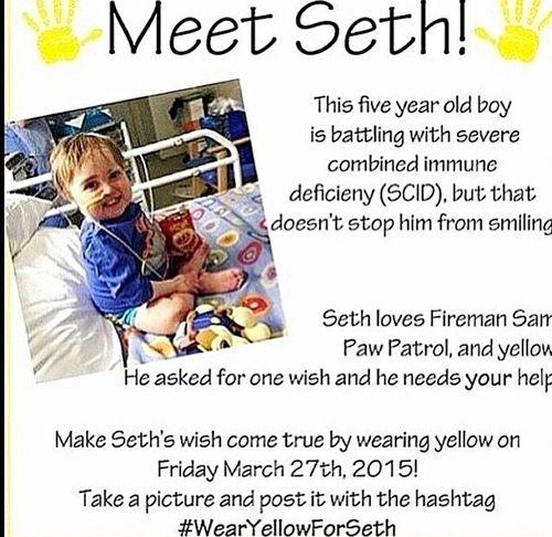 WearYellowForSeth Yellow Wear Yellow For Seth 😁🙏