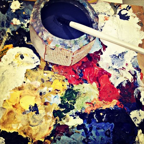 Hello painting pallette - There's work to be done!