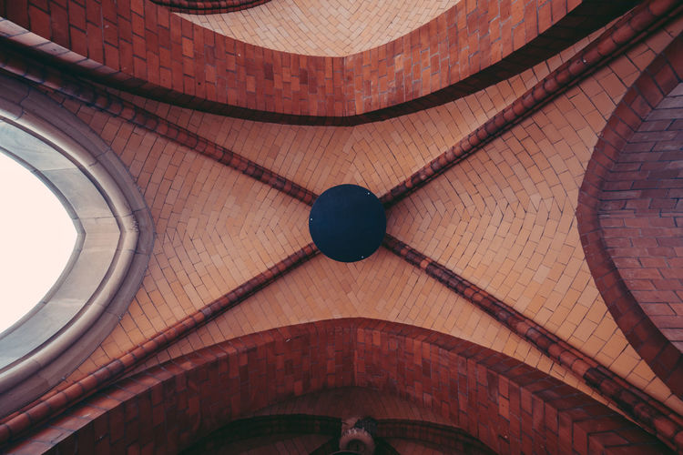Low angle view of cathedral ceiling