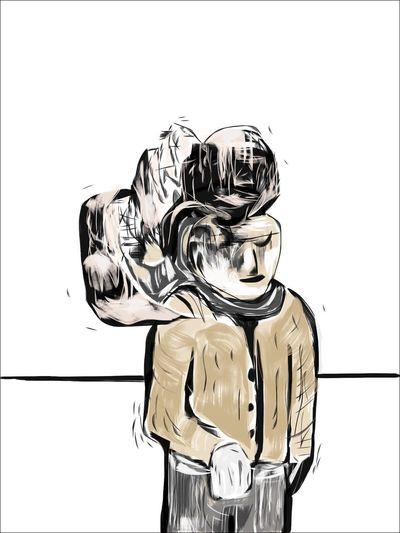The burden of heavier things Drawing Digital Art