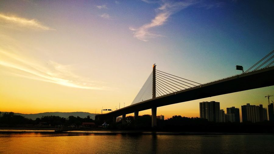 Sunset Bridge - Man Made Structure Architecture Built Structure Silhouette Travel Destinations Sky Stories From The City