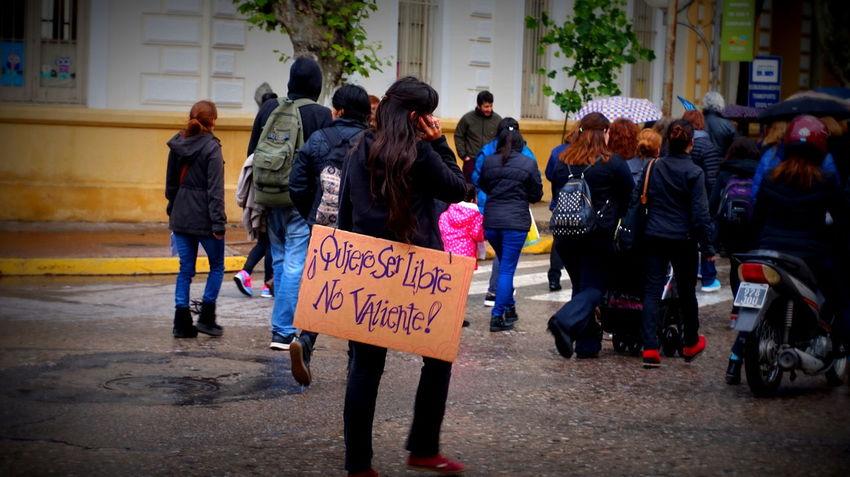 Feminist Protest Outdoors Rain Drops MiercolesNegro Rain Woman