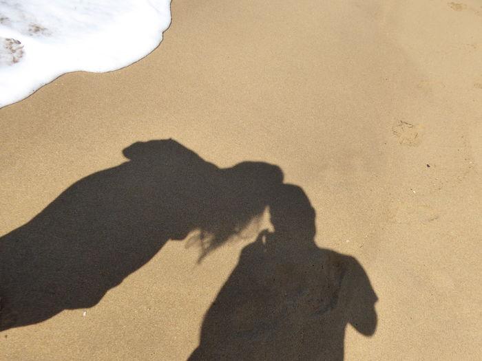 Australian Beach Beach Beach Sand BG Feelings Focus On Shadow Friendship Heart Throbs Lets Go Together Love Sand Shadow Sommergefühle Summer Feelings  Sunlight Togetherness Two People