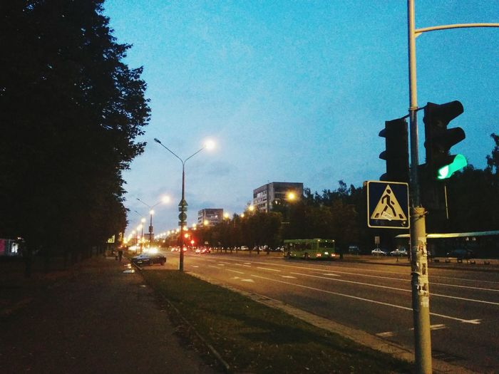 Street Road Roadlight Cityscapes City Lights Big City Greenlight Green Light Minsk Minskcity
