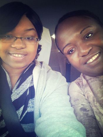 I forgot we took this picture. But me and my mommy :) I love her