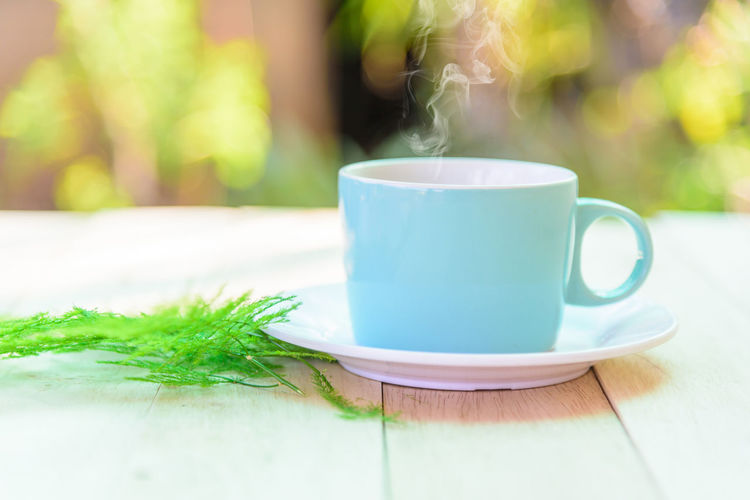 a cup of hot
