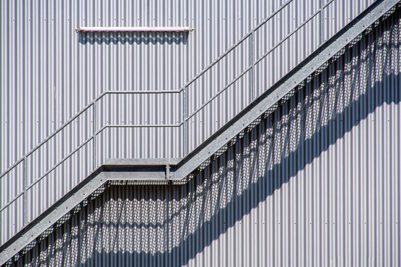 Low angle view of modern building staircase