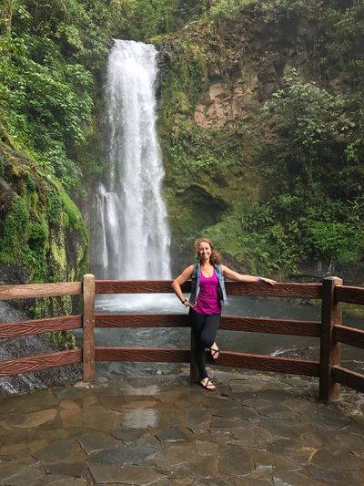 Been There. Done That. Costa Rica Waterfall Full Length Motion Standing One Person Lifestyles Day Water Nature Outdoors Beauty In Nature Long Exposure Young Adult Young Women Real People Scenics Tree People La Paz Second Acts Second Acts