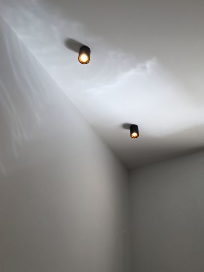 No People Illuminated Lighting Equipment Low Angle View Indoors  Electricity  Light Wall - Building Feature Ceiling Light - Natural Phenomenon Architecture Copy Space Electric Lamp Technology