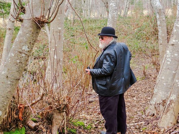 Out for a walk Hat Rear View Tree Trunk Tree Forest Tree Area Cap Branch One Person Retro Styled One Man Only Nature Old-fashioned Adult Beauty In Nature Tranquility Tranquil Scene