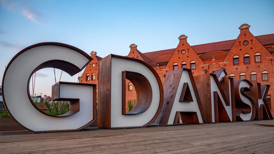 Gdansk sign at