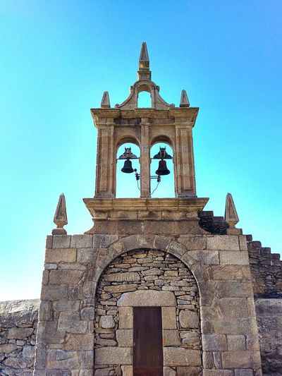 Architecture History Travel Destinations Blue Building Exterior Business Finance And Industry Built Structure No People Sky Day Clear Sky Outdoors Architecture Iglesia Virgen De La Barca Clear Sky Tranquility Beauty In Nature Muxía