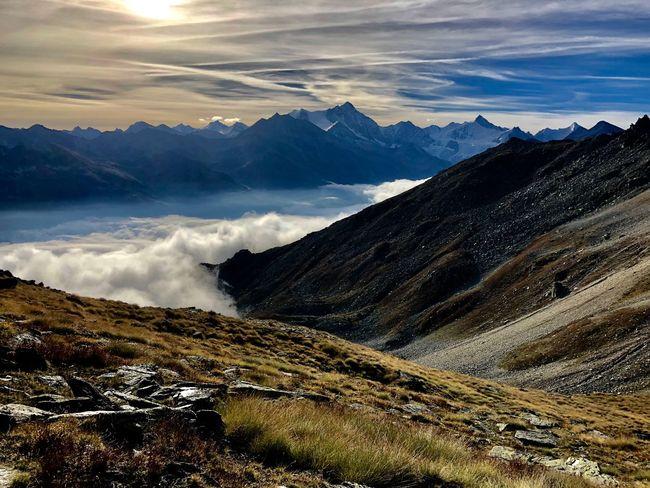 Switzerland Beautiful Colors EyeEm Nature Lover Swissmountains  Swiss Alps Valais Valdanniviers Grimentz Beauty In Nature Mountain Tranquil Scene Tranquility Sky Cloud - Sky Environment Nature Outdoors
