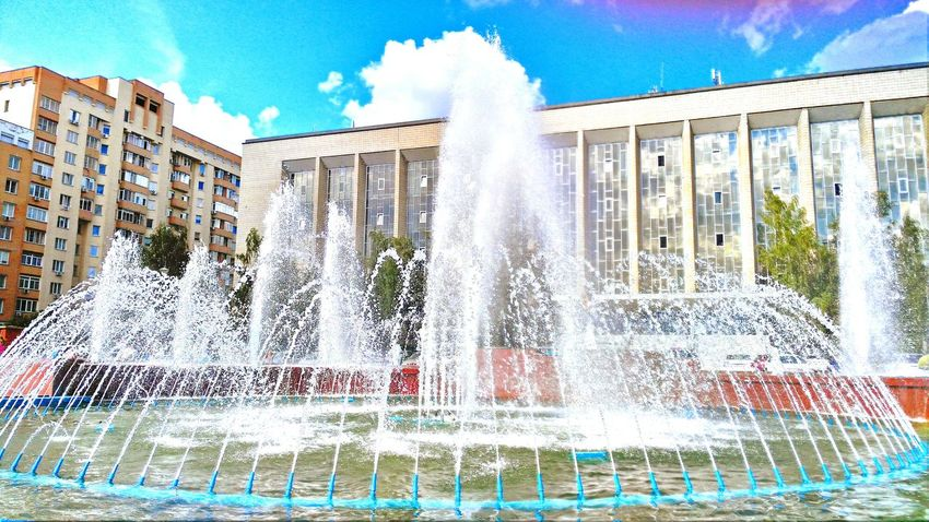 Water Fountain Outdoors Splashing Sky Day No People Architecture