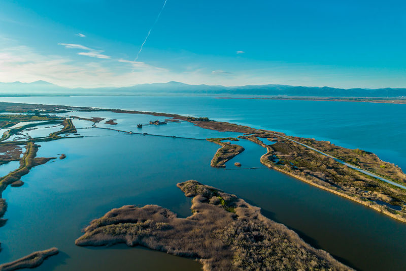 Vistonis Lake and Porto Lagos in Greece Aerial Shot Aerial View Beach Beauty In Nature Blue Cloud - Sky Day Horizon Horizon Over Water Idyllic Lagoon Lake Lakescape Land Nature No People Non-urban Scene Outdoors Scenics - Nature Sea Seafront Sky Tranquil Scene Tranquility Turquoise Colored Water