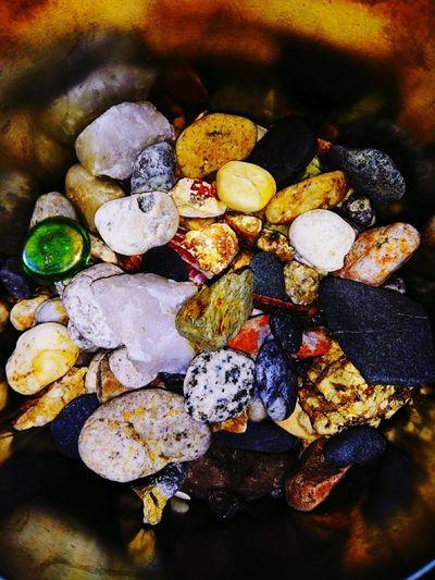 Mineralscience Preciousstones Stoneoftheearth Beach Naturelovers Various Gemstone  Seashell Assortment Multi Colored High Angle View Close-up