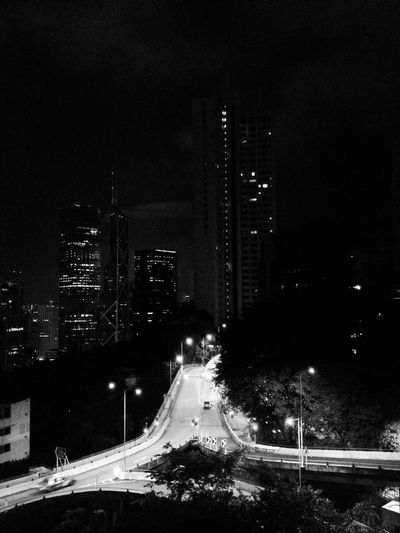 Architecture City HongKong Life Architecture Blackandwhite Building Exterior Built Structure City Illuminated Mobilephotography Night People Road Street Streetphotography Town Transportation
