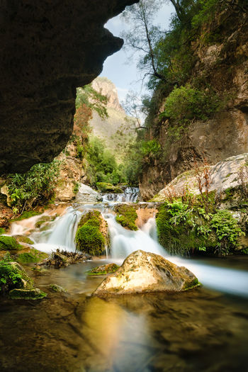 The Cascades d'Akchour in Morocco near Chefchaouen. The Cascades d'Akchour are a 45minute drive from Chefchaouen and they are in the Talassemtane National Park. Africa Akchour Beauty In Nature Cascade Cascades Cascades D'akchour Chefchaouen D'akchour Dakchour Forest Idyllic Landmark Morocco National National Park Nature River Rock Formation Scenics Stream Talassemtane Tranquil Scene Water Waterfall Wilderness