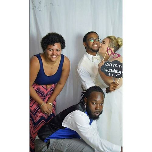 Photo booth at the Wedding!