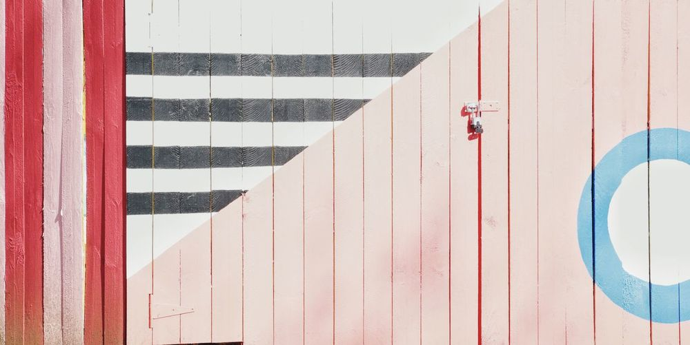 EyeEm Selects Day Striped Outdoors Red No People Architecture SW DC Washington, D. C. JGLowe Colors Fence