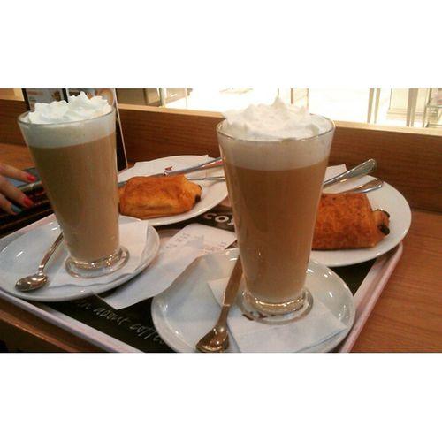 Вчерашний рабочий день закончился в @costacoffee_kz с @da6unya Costacoffee_kz