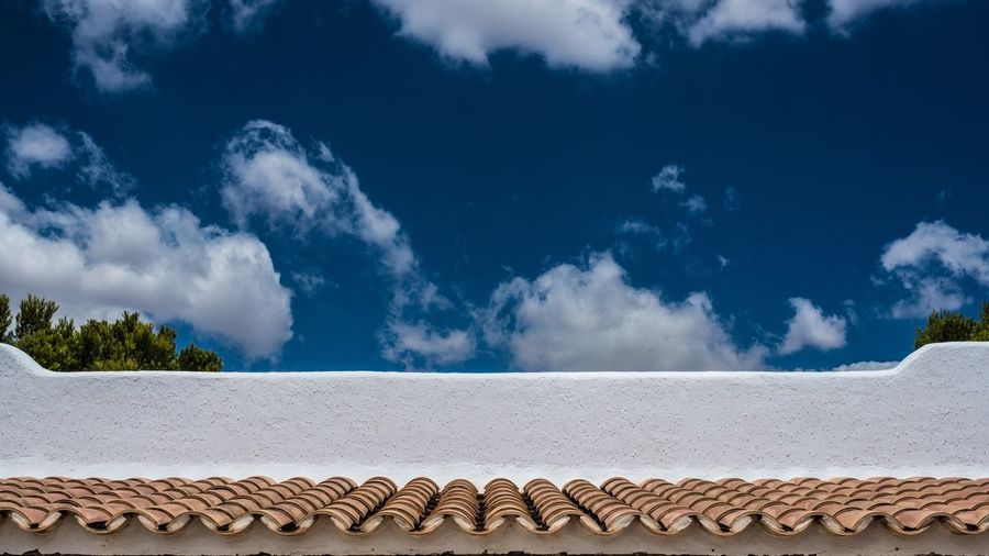 Marcweberde Mediterranean  Roof Architecture Built Structure Summertime Blue Blue Sky Roof Tile Rooftiles Rooftile Tiles Summer Surfaces Summer ☀ Summer Views Sky Construction