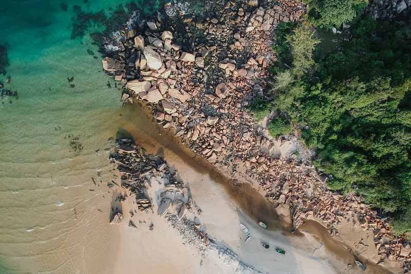 beach & storm High Angle View Water Nature Land Day No People Tranquility Plant Outdoors Sea Environment Growth Beauty In Nature Dirt Scenics - Nature Pollution Tree Beach Tranquil Scene