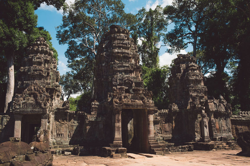 Siem Reap Cambodia Angkor Ancient History The Past Religion Place Of Worship Architecture Belief Built Structure Old Ruin Travel Destinations Travel Tourism Old Ancient Civilization Spirituality Nature Tree Plant No People Archaeology Outdoors Ruined Deterioration