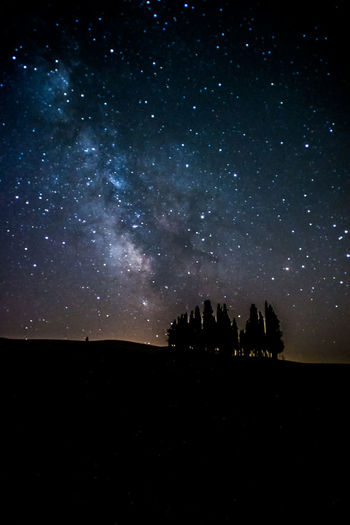 Crete Senesi Toscana Tuscany Cipressi Sky Star Valdorcia Vialattea