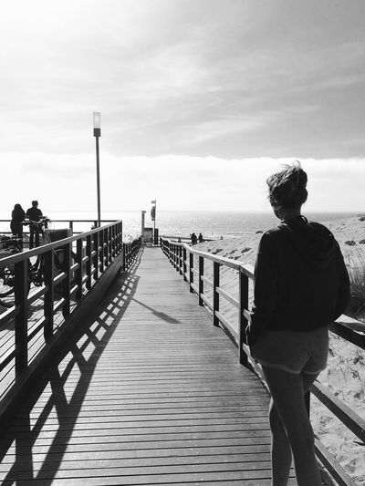 They came from outa space... BW_photography Ericeira Foz Do Lizandro Mystic Pier Portugal Praia Beach Black And White Blackandwhite Bw_collection Bw_lover Expect The Unexpected  Horizon Into The Light Pier Portugal_lovers Real People Sea Standing Vacations