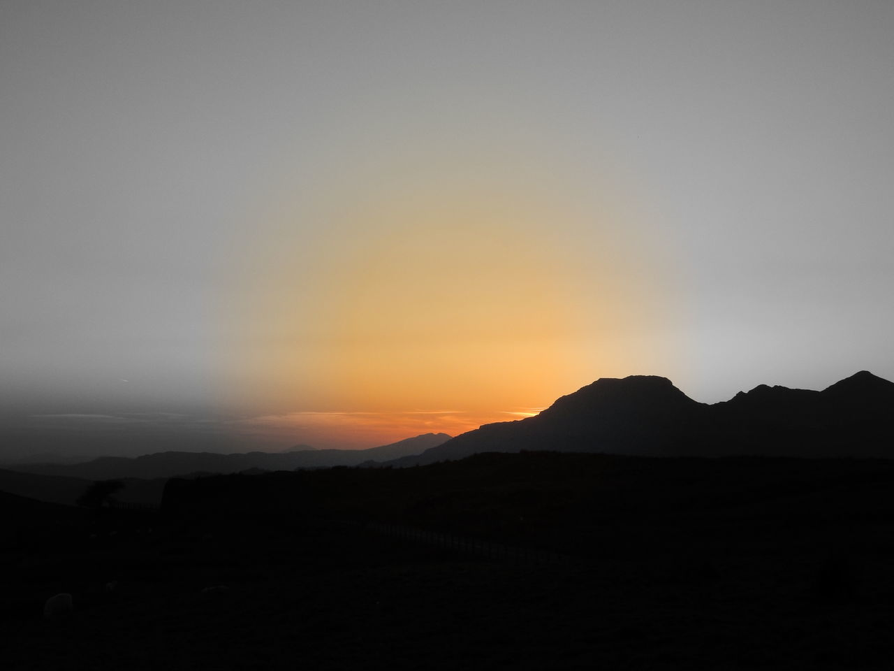 silhouette, sunset, mountain, nature, beauty in nature, tranquil scene, scenics, tranquility, no people, landscape, sky, outdoors, day