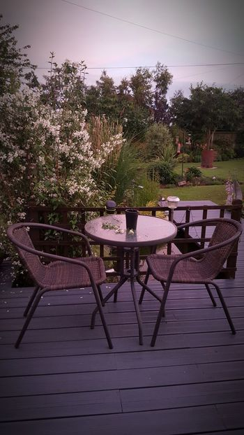 Relax Chillax Bistro Table For Two Sanctuary  Countryside My Garden Warm Evening Soothing