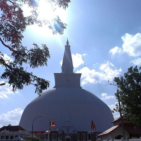 The Ruwanwelisaya is a stupa in Sri Lanka, considered a marvel for its architectural qualities and sacred to many Buddhists all over the world. It was built by King Dutugemunu c. 140 B.C., who became lord of all Sri Lanka after a war in which the Chola Ki