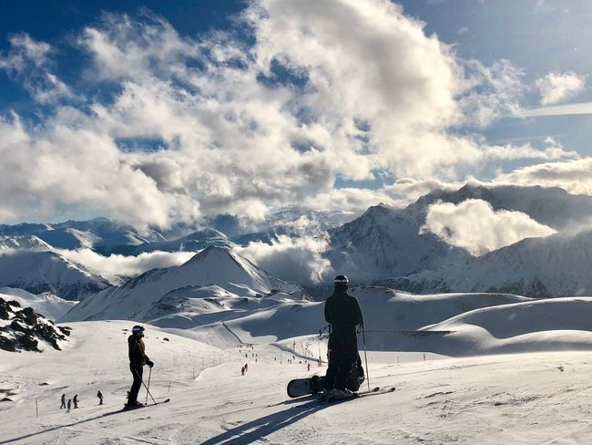 Skiing #afterrain Snow Winter Cold Temperature Ski Holiday Mountain Skiing Snowcapped Mountain Weather Tranquil Scene Nature Tranquility Snowboarding Mountain Range Vacations Scenics Landscape Adventure Beauty In Nature Day Cloud - Sky