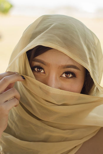 Egyptian Women Egyptian-Faces Beautiful Woman Beauty Covering Egyptian Art Front View Headscarf Headshot Human Body Part Looking At Camera One Person Portrait Real People Slik Art Women Young Adult Young Women