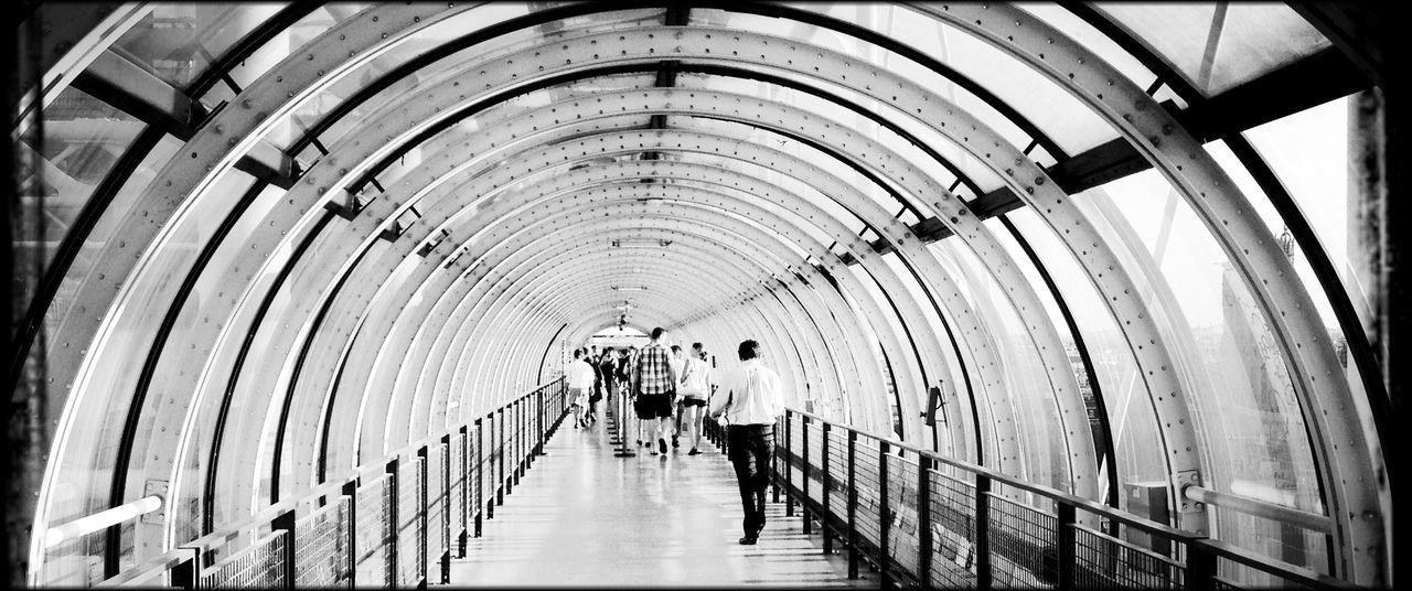 Architecture Beaubourg Built Structure Diminishing Perspective Indoors  Paris Pompidou Center Tunnel