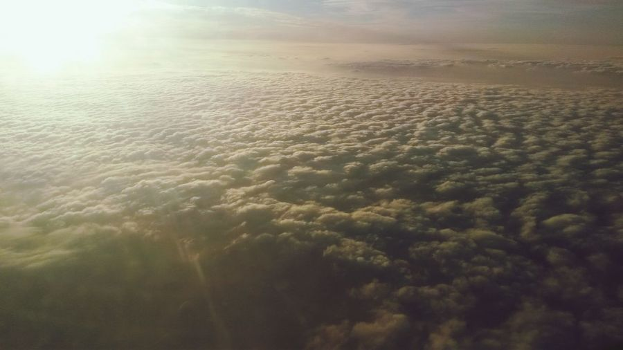 Sur les nuages ... ☁ Sur Un Nuage Airplaneview From An Airplane Window Cloud And Sun