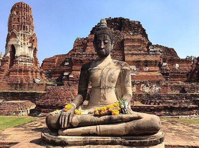 Religion Statue History Holly Sacred Places Archaeological Sites Amazing Thailand Amazing Thailand Sacred Holyplace Temple Buddastatue Ayutthaya Buddha Amazing Place Hot Day