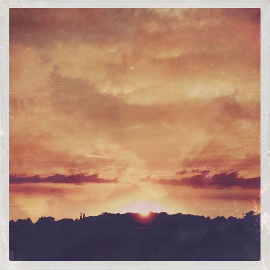 Sky Cloud - Sky Sunset Beauty In Nature Scenics - Nature Tranquil Scene Tranquility Orange Color Landscape Outdoors