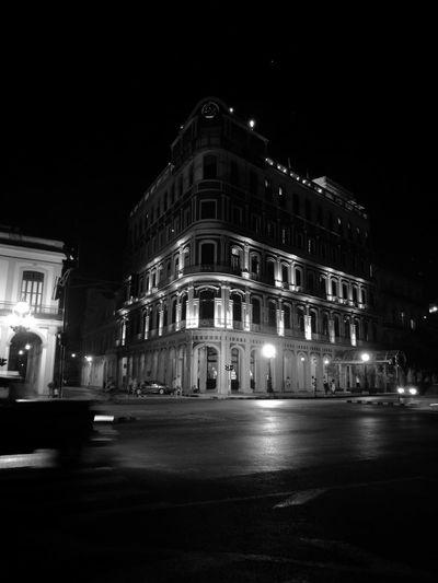 EyeEm Street Night Hotel Saratoa Havana Cuba OriginalPhoto Whit Out Filter Black&Whait