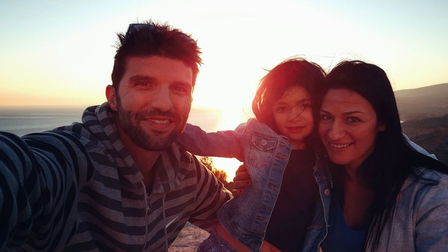 Portrait Of Family By Sea