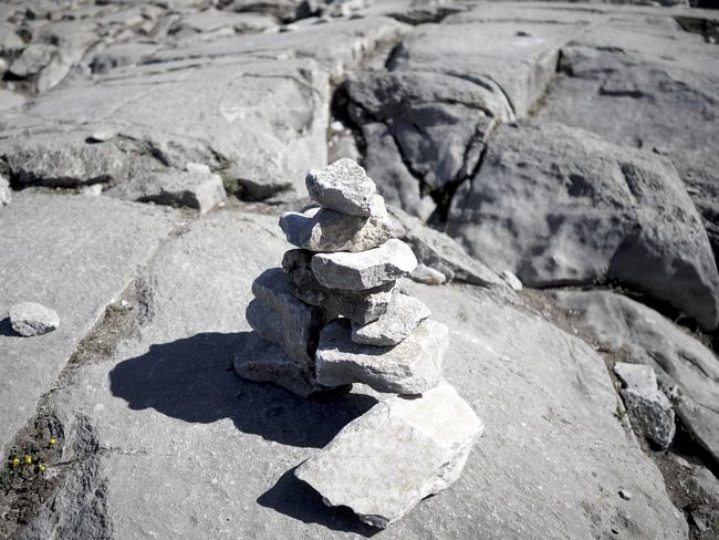 Banff  Close-up Inuksuk Nature Outdoors Rock - Object Rock Formation Rough Shadow Stone - Object Sulphur Mountain Sunlight Textured  The KIOMI Collection