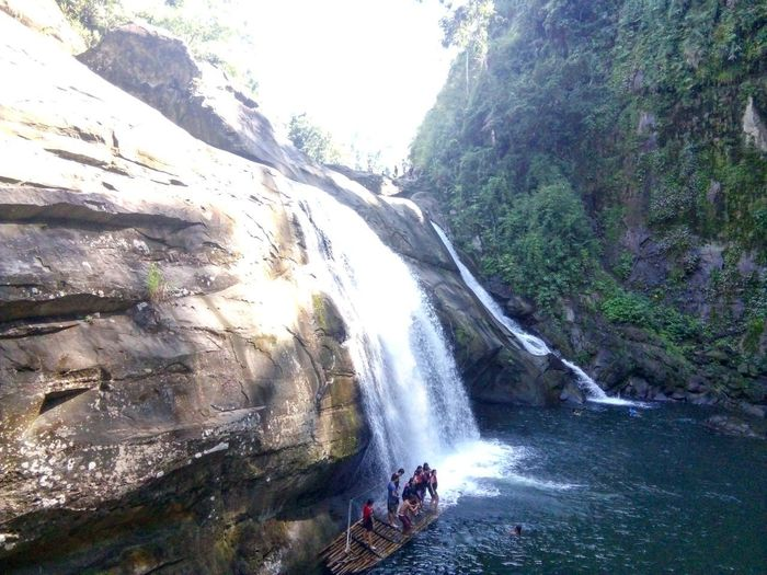 Waterfalls Tangadanfalls Beauty In Nature Tranquility Day Outdoors River Forest Sunrays Plant Freshness Watercurrent San Juan La Union Philippines Asean Just Do It 2nd Life