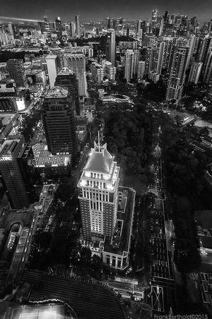 Skyline Cityscapes Night Night Lights City Lights not NYC Ionsky Frandi Black & White Blackandwhite