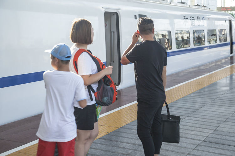 Get In High Speed Rail To Travel Traveler The Week On EyeEm Day Outdoors People Public Transportation Railroad Station Platform Train Transportation Travel