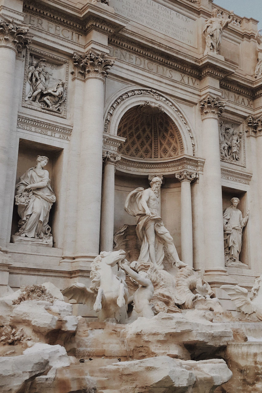 art and craft, sculpture, representation, human representation, architecture, statue, creativity, built structure, male likeness, history, the past, female likeness, craft, no people, travel destinations, low angle view, building exterior, building, carving - craft product, tourism, architectural column, ornate, carving